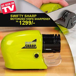 Swifty Sharp Cordless, Motorized Knife Blade Sharpener