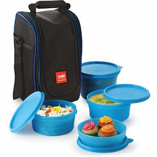 Cello Max Fresh Super Lunch 4-Blue