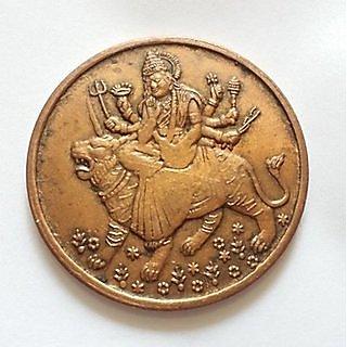 Very Rare 1839 East India Company Half AnnaLordess Sherawali Mata Ji Coin