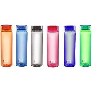 Cello H2O 1000 ml Bottle (Pack of 6 Multicolor)