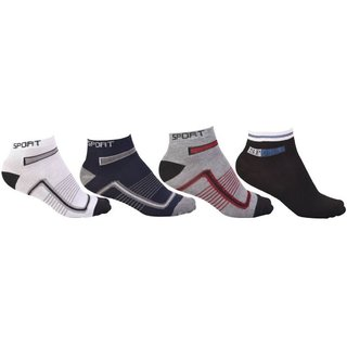 2 Feets Relax Your Feets Men's Solid Ankle Length Socks