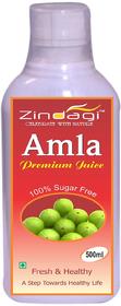 Zindagi Pure Amla Juice - Sugarfree Health Drink - Natural Amla Fruit Juice 500ml