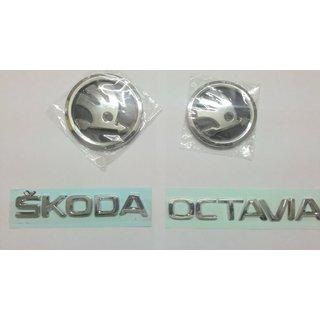 Skoda OCTAVIA NEW car Monogram Emblem Chrome Skoda Car Monogram Logo Emblem DECALS
