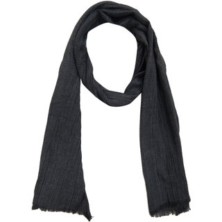 URBAN TRENDZ Polyester solid pleate stole (UT3110GRY)
