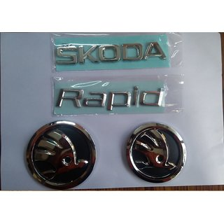 Skoda RAPID OLD car Monogram Emblem Chrome Skoda Car Monogram Logo Emblem DECAL