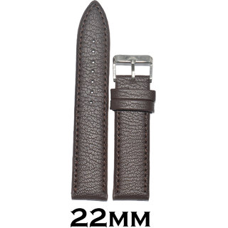 Kolet 22mm Dotted Leather Watch Strap/Band (Brown)