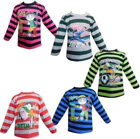 Jisha Fashion Full Sleeves Tshirt (kavin) Pack of 5