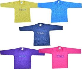 Jisha Fashion diamond print Full Sleeves Tshirt Pack of 5