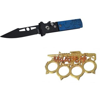 prijam Pocket Knife F-304 (16cm) Model  M4A1-G Model Knuckle Punch Pack of 2 Products