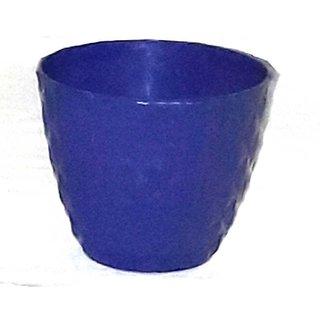 Flora Bonsai- Plastic Pots-Blue- Set Of 4