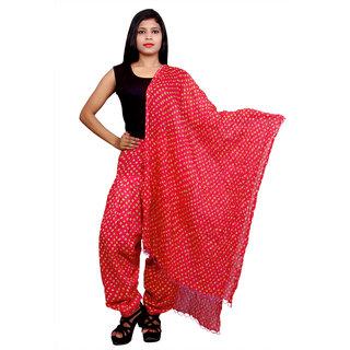Purvahi Pink color printed Cotton patiyala With maching dupatta set