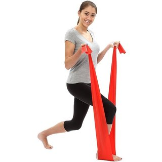 House of Quirk Stretch Perfect for Tone Legs Ankle Arms Thigh Gym Pilates Yoga Bands (Red)
