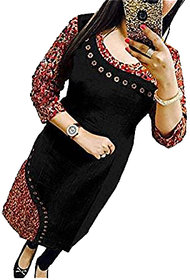 Holyday Party Wear Digital Printed Ready Made Cotton Kurti Full Stitched with Wooden Button For Girls