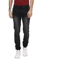 Urbano Fashion Men's Grey Cotton Lycra Slim Fit Jeans