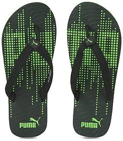 Puma Animatrix Black Green Print Slippers