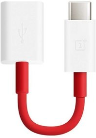 Oxza Type C USB 3.1 Male to USB Female Cable OTG USB Adapter  (Red, White)