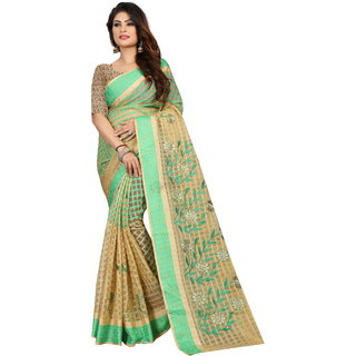 02d0445e71 Buy Meia Women S Ethnic Wear Banarasi Embroidered Green Colour Saree Online  - Get 74% Off
