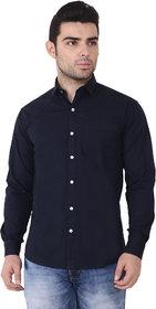 Yellow Tree Mens Navy Blue Shirt Full Sleeves Solid Casual Shirt Formal Shirt For Mens Boys( B A N A N A )