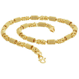 Sukkhi Classic Alloy Gold Plated Chain For Men