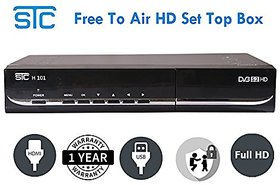 Mpeg-4 Free To Air DTH Set Top Box H-101 ( No Subscription)