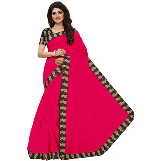 VIBHAA Pink Chanderi Saree