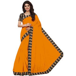 VIBHAA Yellow Chanderi Saree