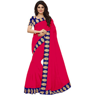 VIBHAA Pink Chanderi Saree