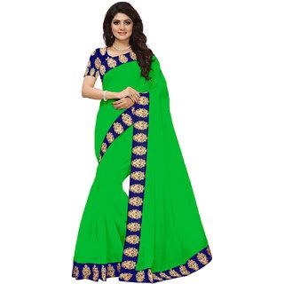VIBHAA Green Chanderi Saree