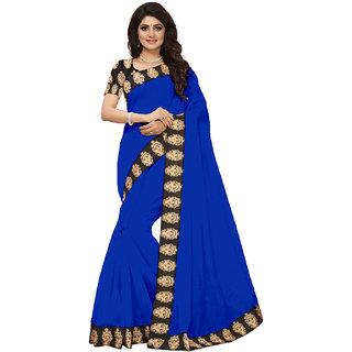 VIBHAA Blue Chanderi Saree