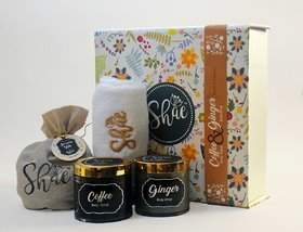 Spa Gift Kit by Shae Coffee Body Scrub  Ginger Body Wrap  Gift for her  Gift for Him
