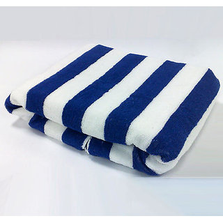 MINDER Super Special Blue Color Beach Towel In Best Quality in Big Size