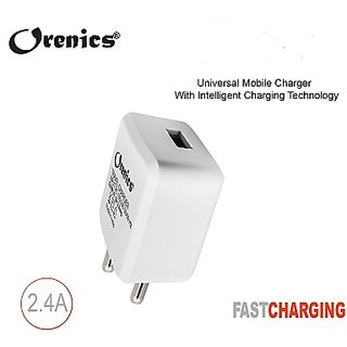 Orenics 2 Amp Travel Adapter With 0.5-1.0 m Type C Cable (Seller Warranty Of 3 Months)