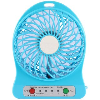 EASY DEAL Powerpak 4-Inch Rechargeable Battery USB Mini Fan (Color May Vary)