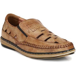 b66c6d4f4 Buy Shoegaro Men s Tan Leather New Look Casual Sandal Online - Get ...