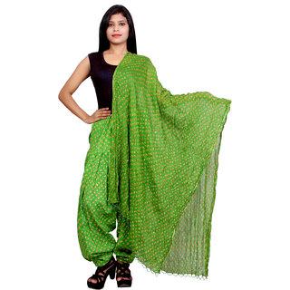 Purvahi Green color printed Cotton patiyala With matching dupatta set