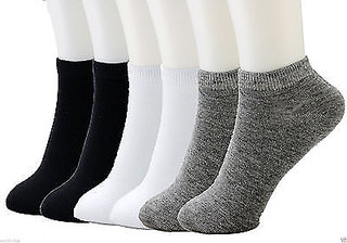 SUPER Smart Pure Cotton Socks Full Comfort  perfect Fit Ankle Socks ( Multi Coloured ) Best 3 Pairs For Male  Female