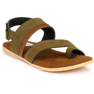 701adc872226 Buy Shoegaro Men s Green Suede Casual Sandal Online - Get 60% Off