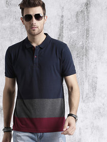 Stylogue Men's Navy Polo T-shirt