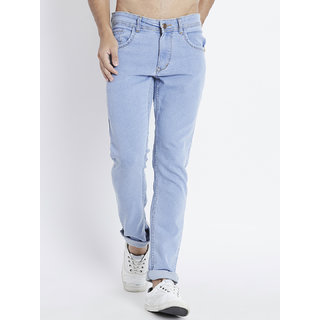 29K Men Slim Fit Stretchable Ice Blue Jeans