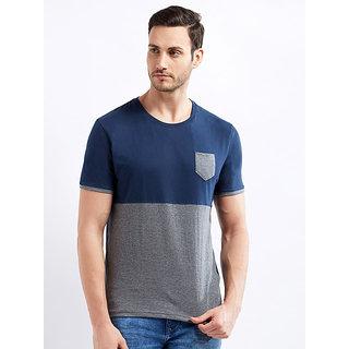 29K Men's Blue-Grey colored Plain Cotton T-shirt