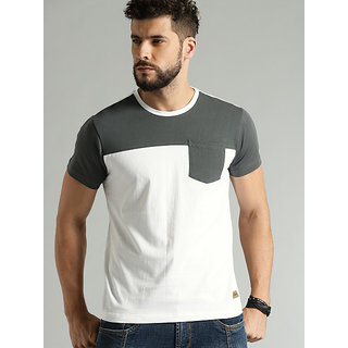 Stylogue Men's Grey Round Neck T-shirt