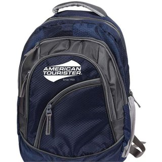 Buy American Tourister Navy Blue Laptop Backpack (Medium) Online   ₹1599  from ShopClues 3a31b0f36eae6