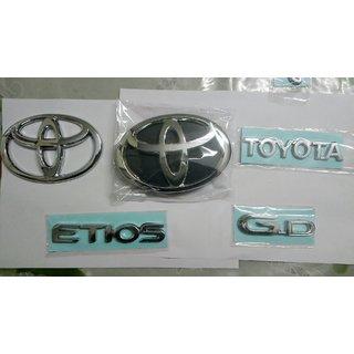 LOGO ETIOS MONOGRAM EMBLEM CHROME for Toyota Etios LOGO GD FAMILY PACK