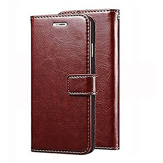 Samsung J7 Premium Quality TPU Leather Magnetic Lock Wallet Flip Cover Case forSamsung J7 Brown