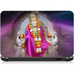 VI Collections Pink Shade Sai Baba pvc Laptop Decal 15.6