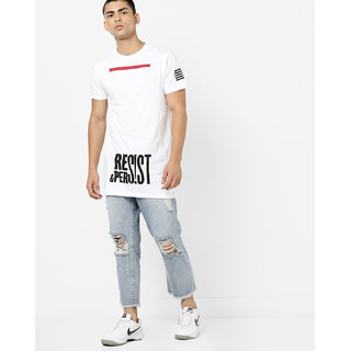 29k Men's White Round Neck T-shirt