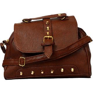 RISH Brown P.U. Sling Bag