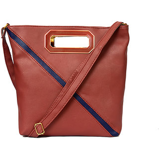 RISH Brown P.U. Sling Bag