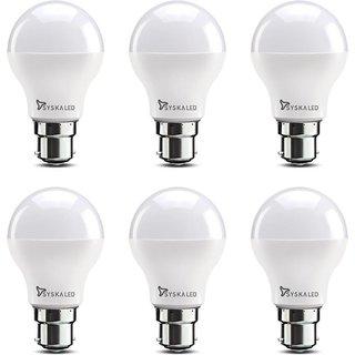 Syska 9W LED Bulb Cool Day Light - Pack of 6
