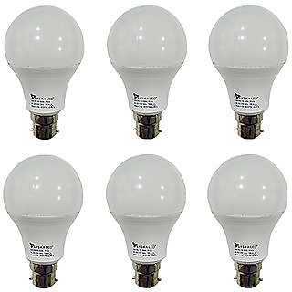Syska 9W LED Bulb Cool Day Light - Pack of 7